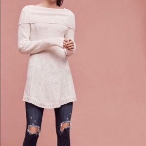 Angel of the North Anthropologie cowl neck sweater
